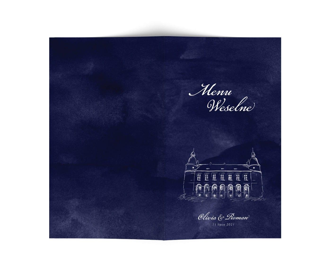 Karty menu na wesele w stylu klasycznym