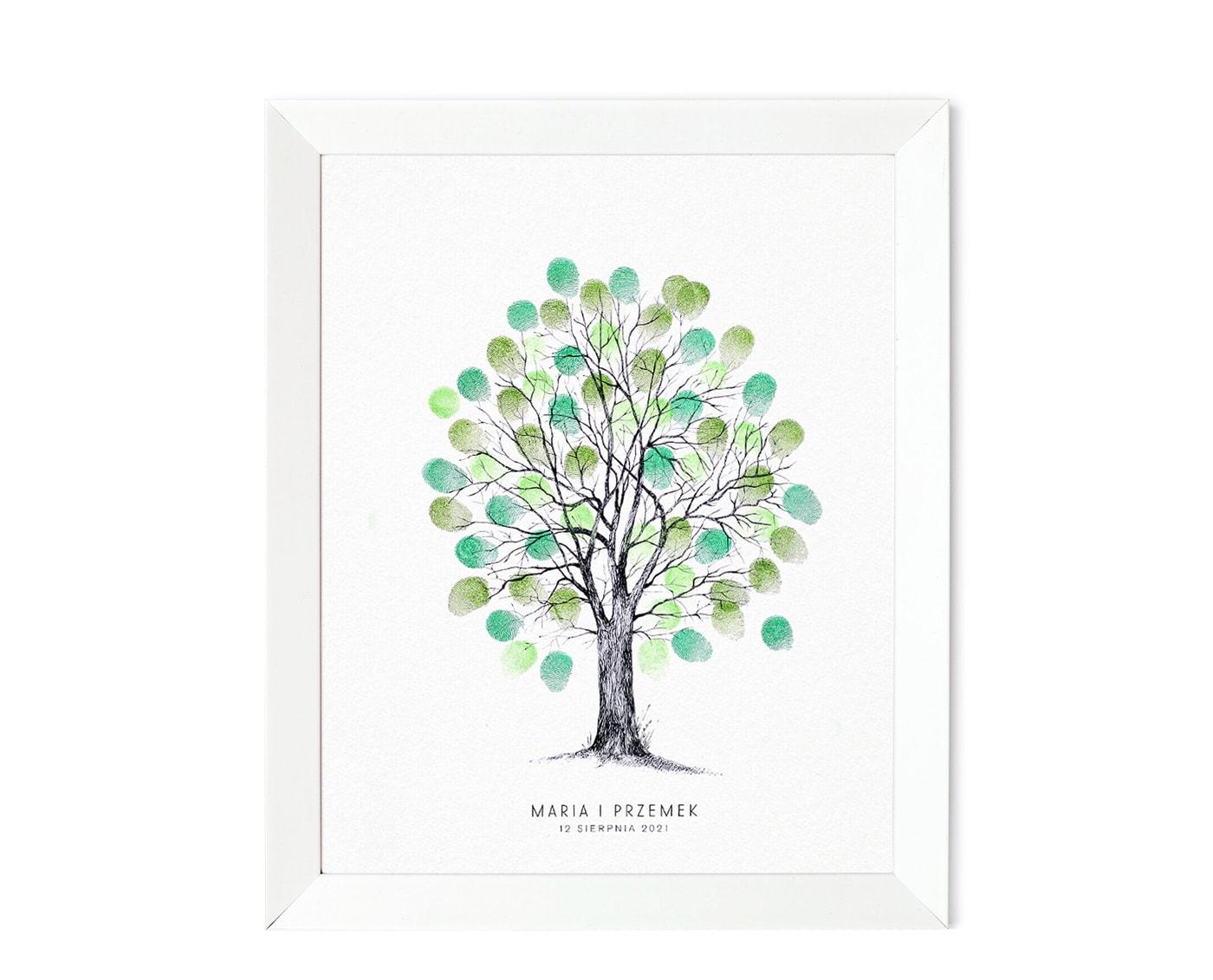 Księga gości, drzewko na odciski palców