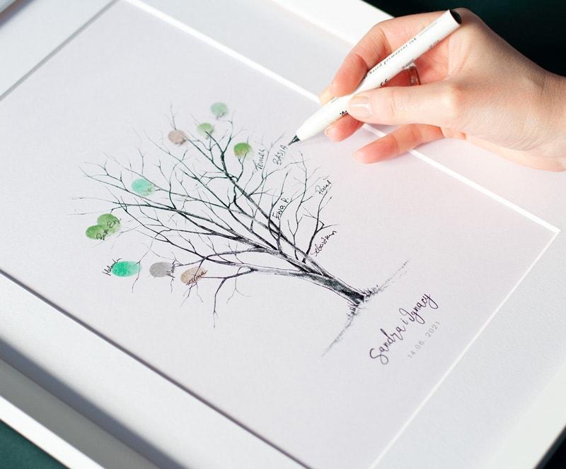 Drzewko na odciski palców