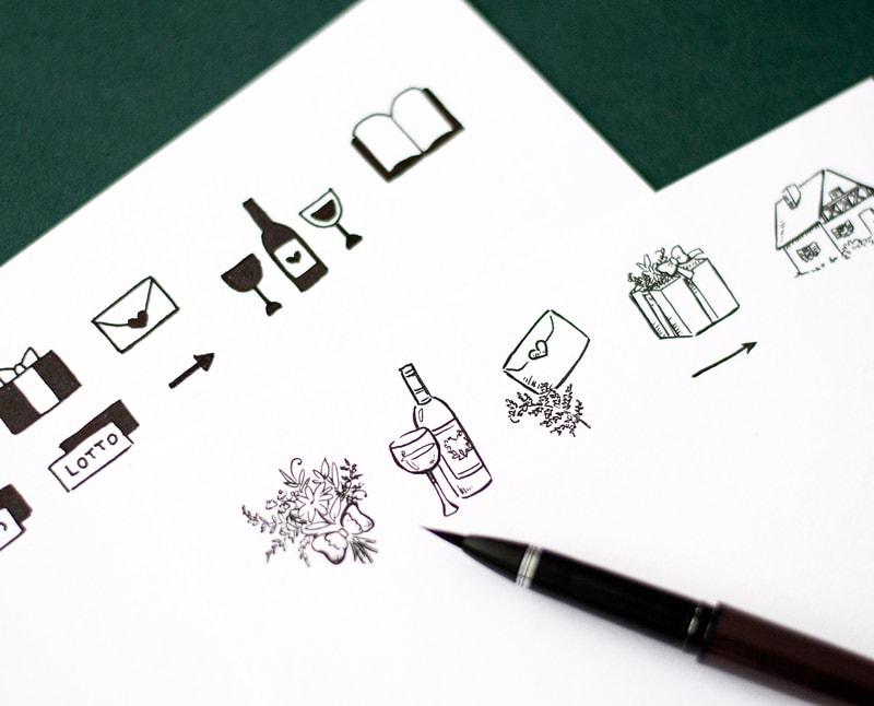 Piktogramy na zaproszenia