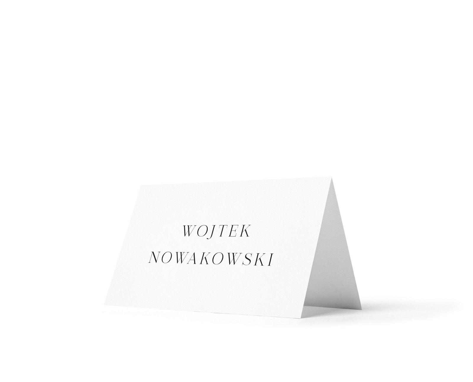 Winietki na stoły w minimalistycznym stylu