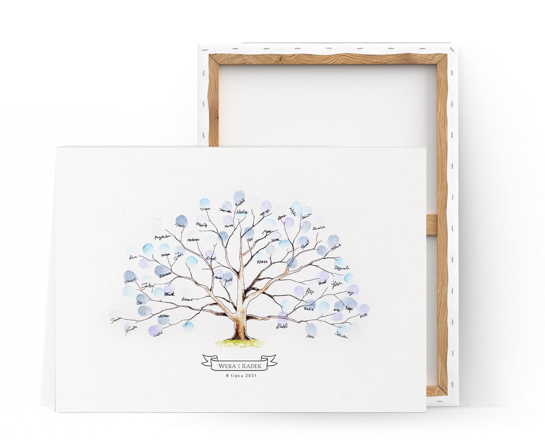 Kreatywna księga gości z drzewkiem na kolorowe odciski palców