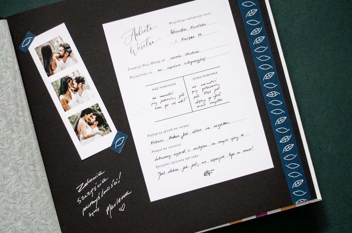 Księga gości na ankiety weselne