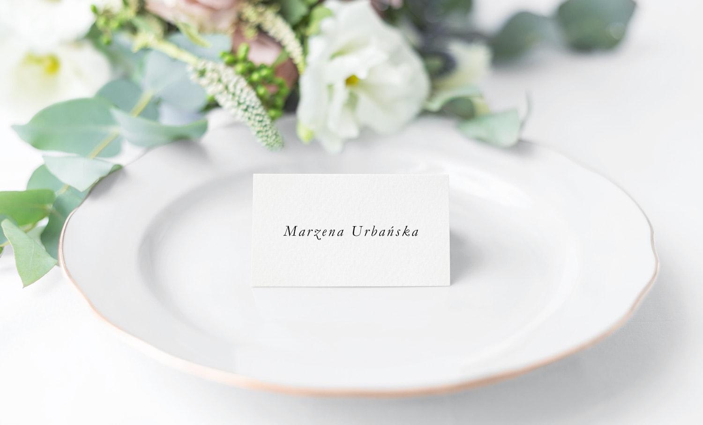 Winietki na stoły proste z imieniem gościa