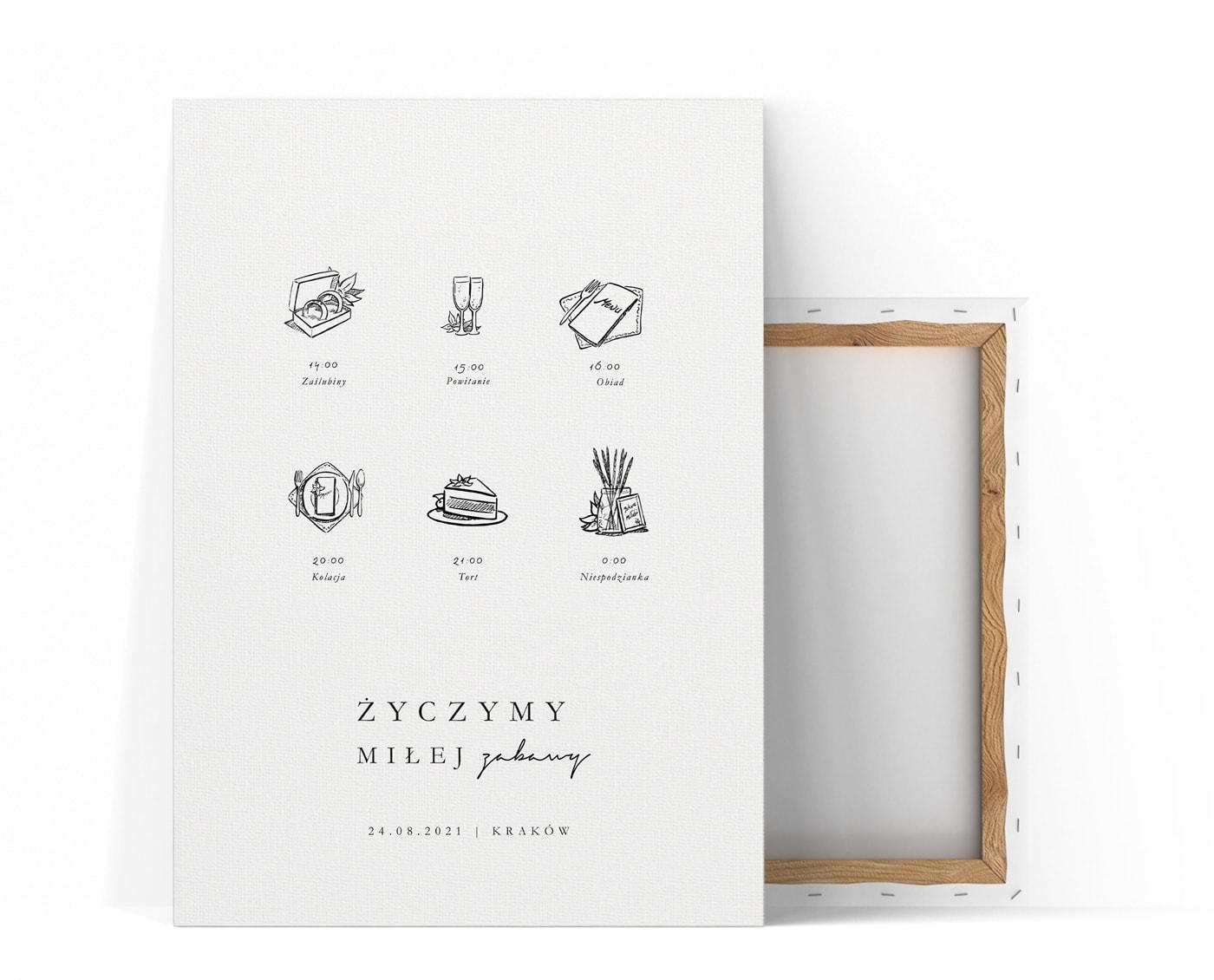 duży plan ceremonii ślubnej z rysunkami