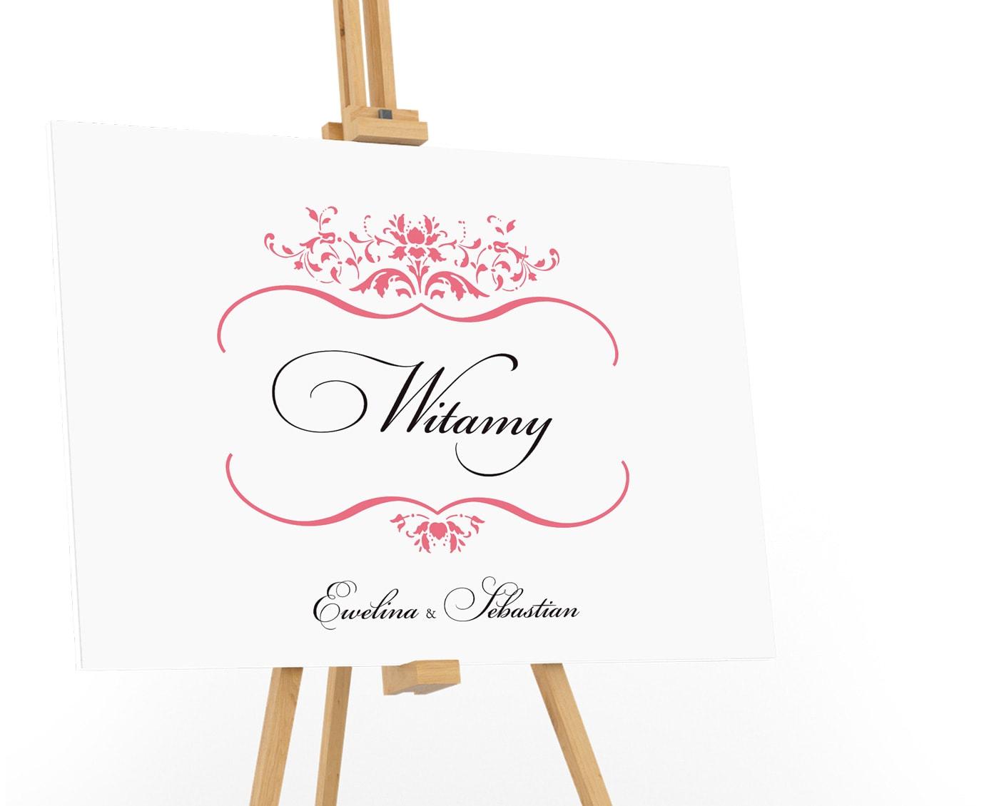 Tablica powitalna na wesele z dużym napisem Witem