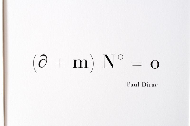 sentencja miłosna, równanie kwantowe Paula Dirac