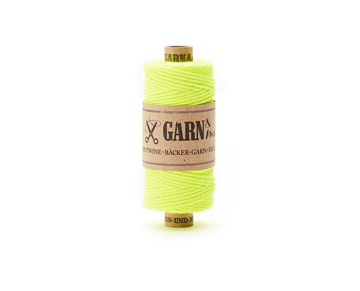bawełniany sznurek neonowy żółty