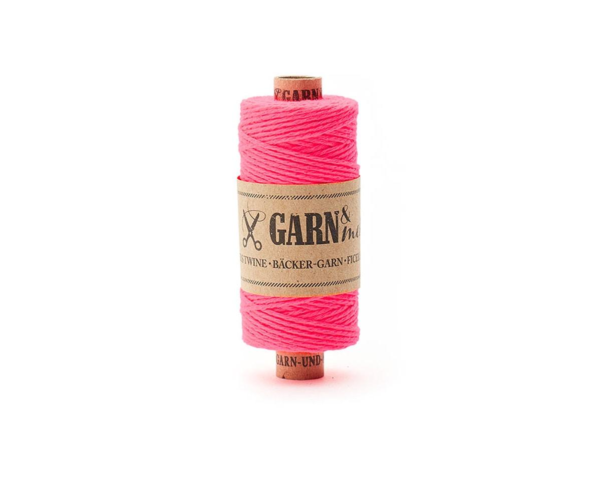 bawełniany sznurek neonowy róż